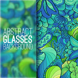 Абстрактная концепция предпосылки орнамента с стеклами Стоковая Фотография