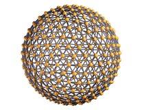 Абстрактная концепция связи сферы Стоковая Фотография RF