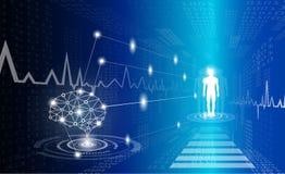 Абстрактная концепция технологии предпосылки в голубом свете Стоковое Изображение RF