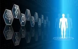 Абстрактная концепция технологии предпосылки в голубом свете Стоковая Фотография
