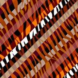 Абстрактная коричневая животная экзотическая картина в стиле заплатки иллюстрация вектора