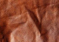 Абстрактная коричневая кожаная текстура Стоковые Фотографии RF