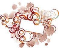 абстрактная коричневая флористическая рамка Стоковая Фотография RF
