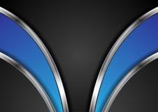 Абстрактная корпоративная металлическая предпосылка вектора волн Стоковое Изображение