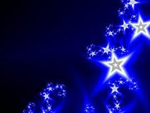 Абстрактная космическая темносиняя предпосылка с звездами Стоковая Фотография RF