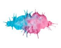 Абстрактная красивая акварель голубых/пинка покрасила предпосылку Стоковые Изображения