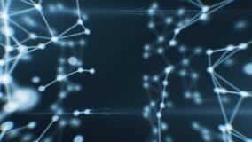 Абстрактная красивая анимация сети Соединяться точек looped HD 1080 иллюстрация штока