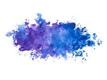 Абстрактная красивая голубая акварель цвета индиго/фиолетовых покрасила предпосылку Стоковое Изображение RF