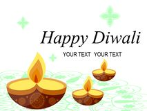 Абстрактная красивая счастливая предпосылка Diwali шток горящая свечка Стоковая Фотография RF