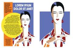 абстрактная красивейшая девушка Рогулька шаблона иллюстрация вектора