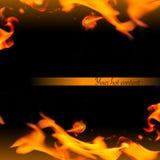 абстрактная красивейшая рамка пламени Стоковая Фотография