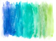 Абстрактная краска руки искусства акварели на белой предпосылке желтый цвет акварели стародедовской предпосылки темный бумажный стоковое фото