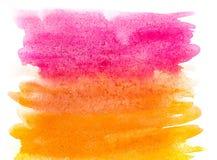 Абстрактная краска руки искусства акварели на белой предпосылке желтый цвет акварели стародедовской предпосылки темный бумажный стоковые изображения