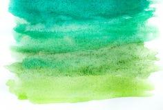 Абстрактная краска руки искусства акварели на белой предпосылке желтый цвет акварели стародедовской предпосылки темный бумажный стоковая фотография