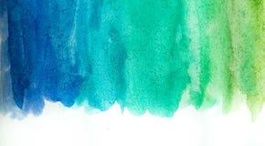 Абстрактная краска руки искусства акварели на белой предпосылке желтый цвет акварели стародедовской предпосылки темный бумажный стоковое изображение rf