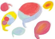 Абстрактная краска цвета воды Стоковая Фотография RF