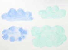 Абстрактная краска цвета воды Стоковое Фото