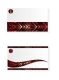 Абстрактная красная визитная карточка изверга Стоковая Фотография