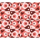 Абстрактная красная геометрическая безшовная картина Стоковые Фото