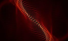 Абстрактная красная геометрическая предпосылка Структура соединения Предпосылка науки Футуристический элемент технологии HUD Стоковые Изображения
