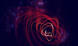 Абстрактная красная геометрическая предпосылка Структура соединения Предпосылка науки Футуристический элемент технологии HUD Стоковые Изображения RF