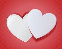 Абстрактная красная головоломка сердца Стоковая Фотография