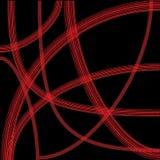 Абстрактная красная линия на черной предпосылке Стоковые Изображения RF