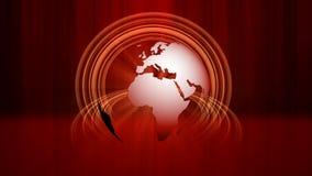 Абстрактная красная предпосылка движения глобуса бесплатная иллюстрация