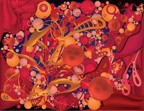 Абстрактная красная предпосылка Стоковая Фотография RF