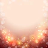 Абстрактная красная предпосылка зимы Стоковое Изображение RF