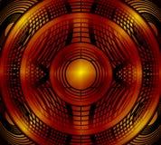 Абстрактная красная предпосылка круга Иллюстрация вектора