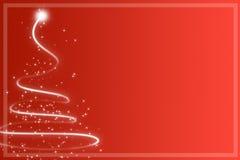 Абстрактная красная рождественская елка Стоковое Изображение