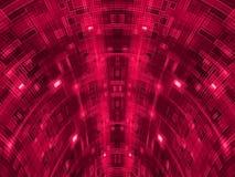 Абстрактная красная сферически цепь тоннеля Стоковые Изображения RF
