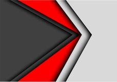 Абстрактная красная темнота - вектор предпосылки серого дизайна стрелки современный футуристический Стоковые Изображения RF