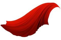 Абстрактная красная ткань пошатывая в ветре бесплатная иллюстрация