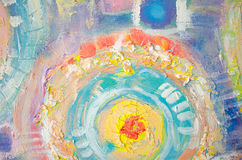 Абстрактная красочная акриловая картина холстина Предпосылка Grunge Блоки текстуры хода щетки художническая предпосылка иллюстрация вектора