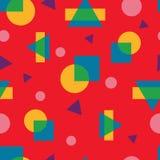 Абстрактная красочная геометрическая безшовная картина в современном стиле Иллюстрация вектора