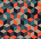 Абстрактная красочная геометрическая предпосылка, иллюстрация кубических форм иллюстрация вектора