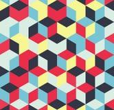 Абстрактная красочная геометрическая предпосылка, формы иллюстрации кубические бесплатная иллюстрация