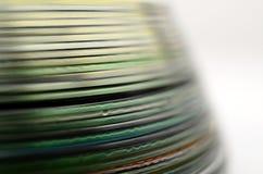 Абстрактная красочная деталь компакт-дисков Стоковые Фотографии RF