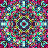 Абстрактная красочная звезда цветка цифров декоративная Стоковое фото RF