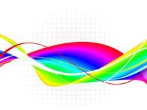 Абстрактная красочная иллюстрация волн-вектора Стоковое фото RF