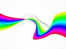 Абстрактная красочная иллюстрация волн-вектора Стоковые Изображения
