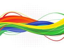 Абстрактная красочная иллюстрация волн-запаса Стоковые Изображения RF