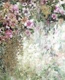 Абстрактная красочная картина акварели цветков Весна пестротканая в природе Стоковое Изображение