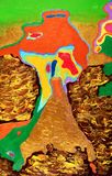 Абстрактная красочная картина акварели Стоковое Изображение RF
