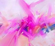 Абстрактная красочная картина маслом на текстуре холста Стоковое фото RF