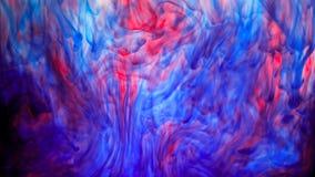 Абстрактная красочная краска в предпосылке воды Стоковая Фотография RF