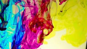 Абстрактная красочная краска в предпосылке воды Стоковые Изображения RF