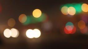 абстрактная красочная круговая предпосылка bokeh сток-видео